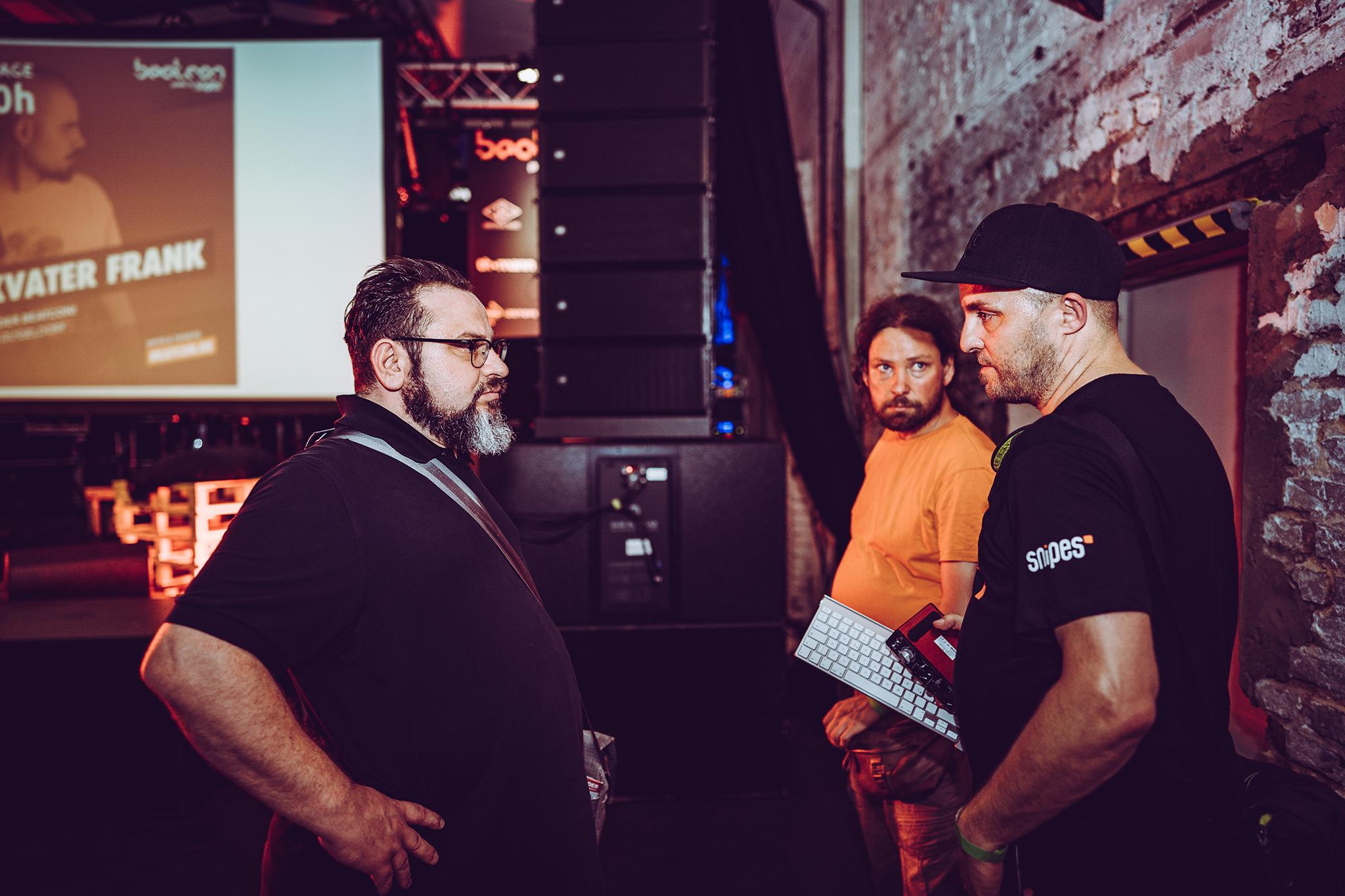 beatcon Co-Owner Maik Euscher und Ingo Gebhardt im Gespräch