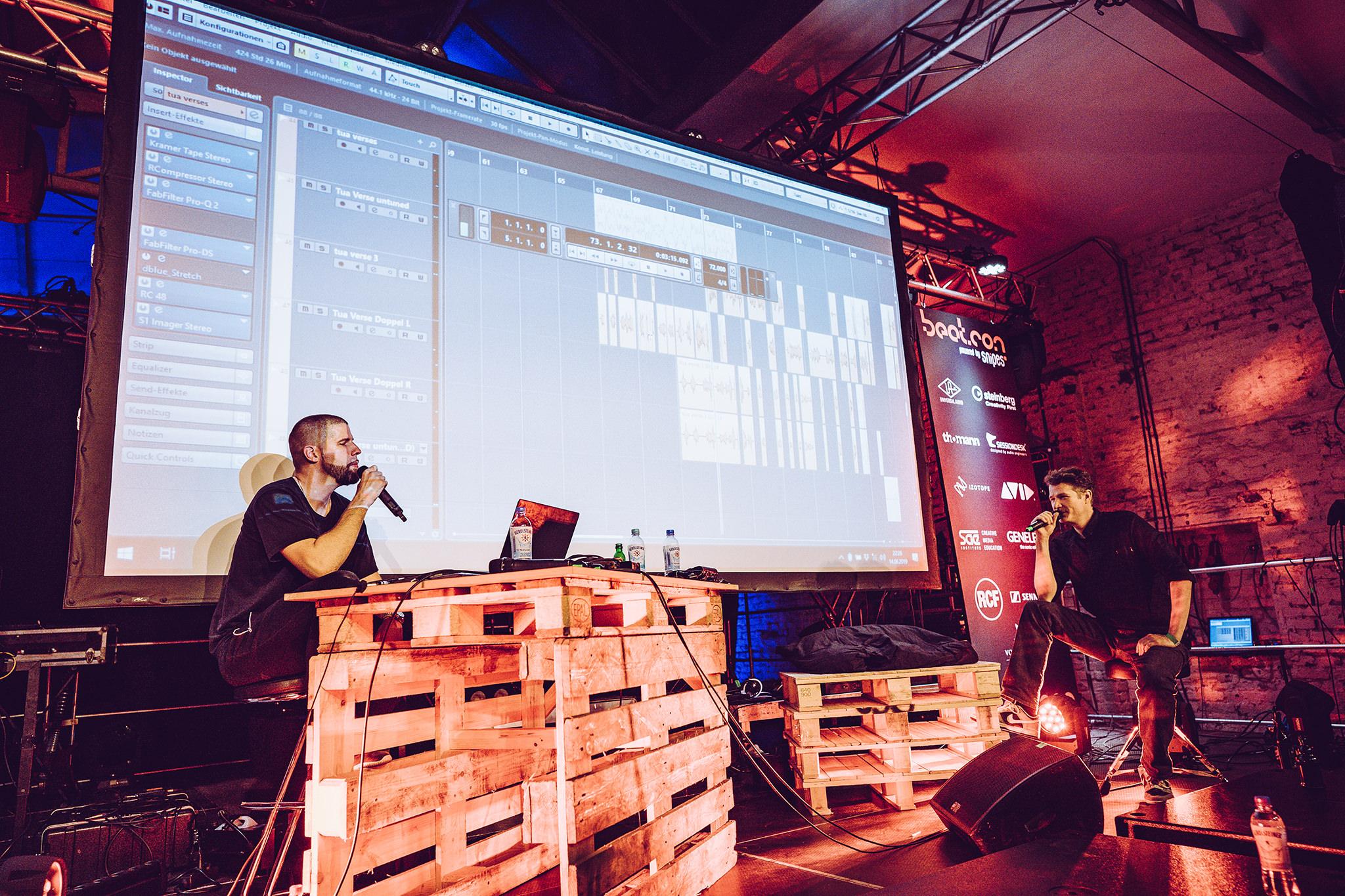 Tua und Falk Schacht auf der SNIPES Stage